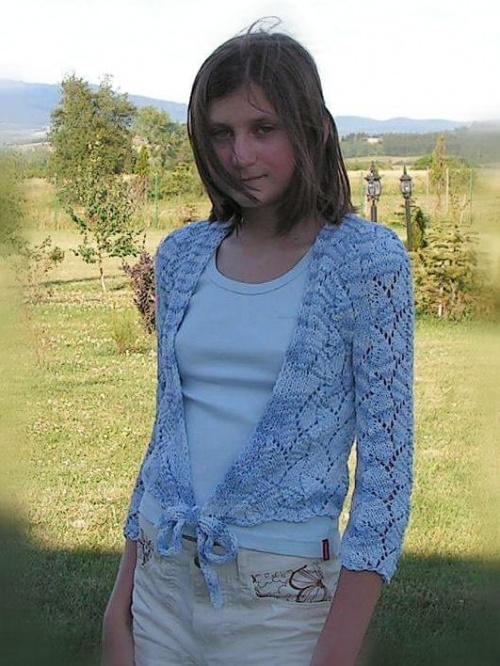 wiązany sweter z Viskozy Alize