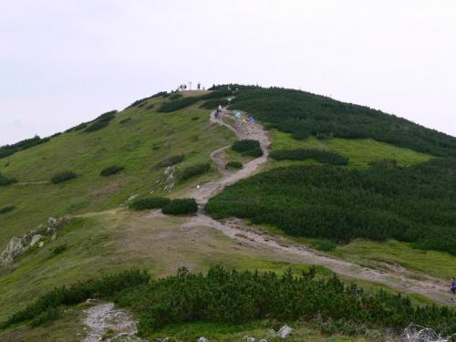 Końcówka szlaku na Grzesia