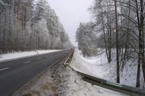 Droga Pisz - Ruciane #Zima2006 #Mazury