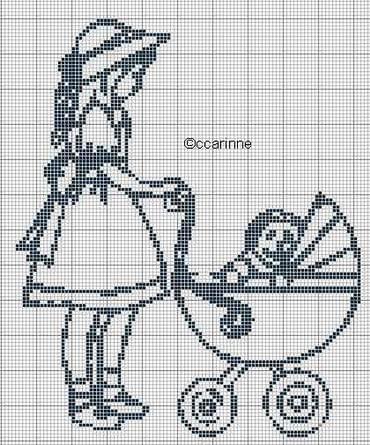 лошадь схема вышивка крестом