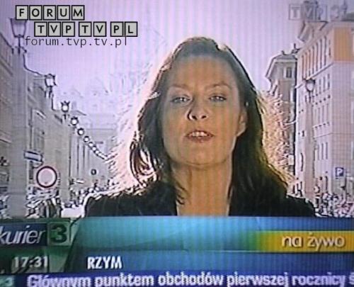 <font color=darkblue size=3><u>2006.04.02 - Kurier TVP3; 17:30 - Watykan.</u></font><br>Urszula Rzepczak - dawniej dziennikarka i prezenterka Informacji w Polsacie, autorka programu podróżniczego Obieżyświat w Polsat 2 Int...