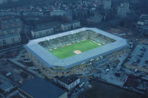 Stadion Korony (foto5) z lotu ptaka. #KoronaKielceKolporterStadion