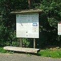 Mapka i opis czerwonej ścieżki dydaktycznej do rezerwatu Piskory #Piskory #rezerwat #mapa #tablica